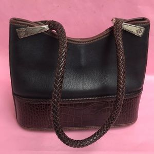 Vintage brown/black Brighton leather shoulder bag